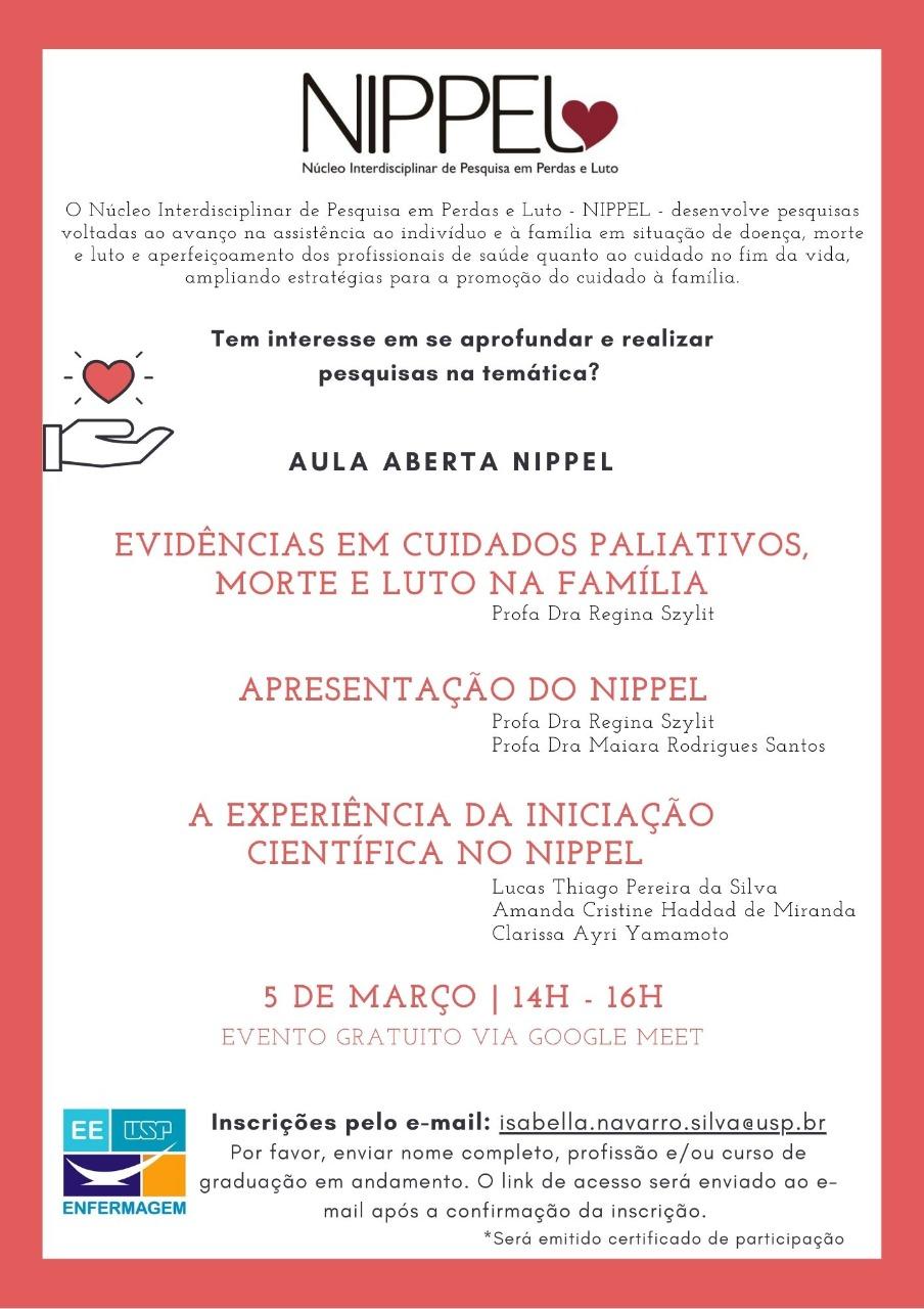 Aula aberta: Evidências sobre Cuidados Paliativos, Morte e Luto 05/03/2021 14 horas