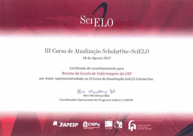 Certificado III Curso de Atualização Scielo-ScholarOne